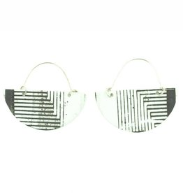 Mimi Logothetis Earrings-Black Stripe