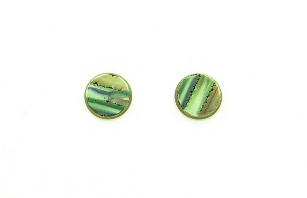 Eva Andre Design Green Stud Earrings