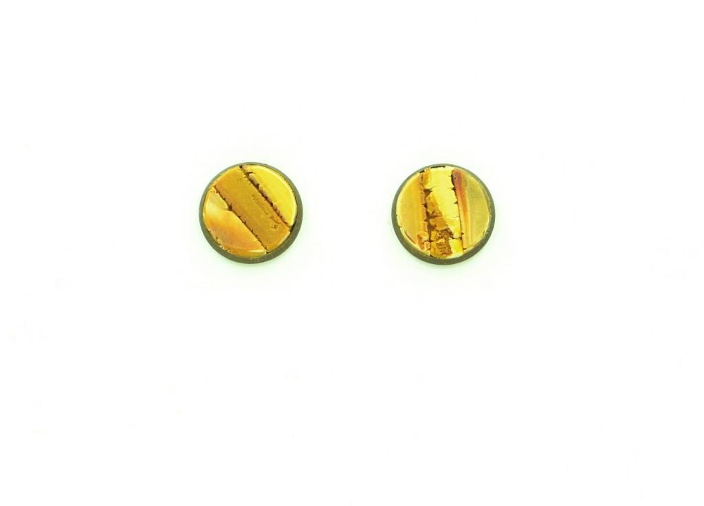 Eva Andre Design Mustard Stud Earrings