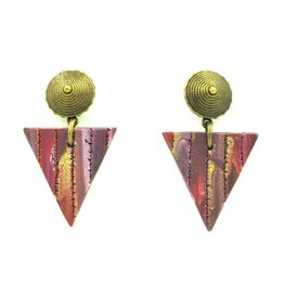 Eva Andre Design Purple Triangle Earrings