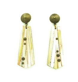 Eva Andre Design White Long Earrings