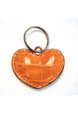 ALLIGATOR HEART KEYCHAIN CAMEL