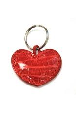 ALLIGATOR HEART KEYCHAIN RED