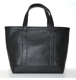 LEATHER TOTE MEDIUM BLACK 00