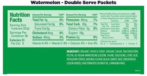 GU Energy Chews Double Serving 1.9oz sleeve