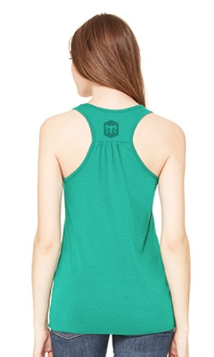 Women's flowy athletic tank with racerback