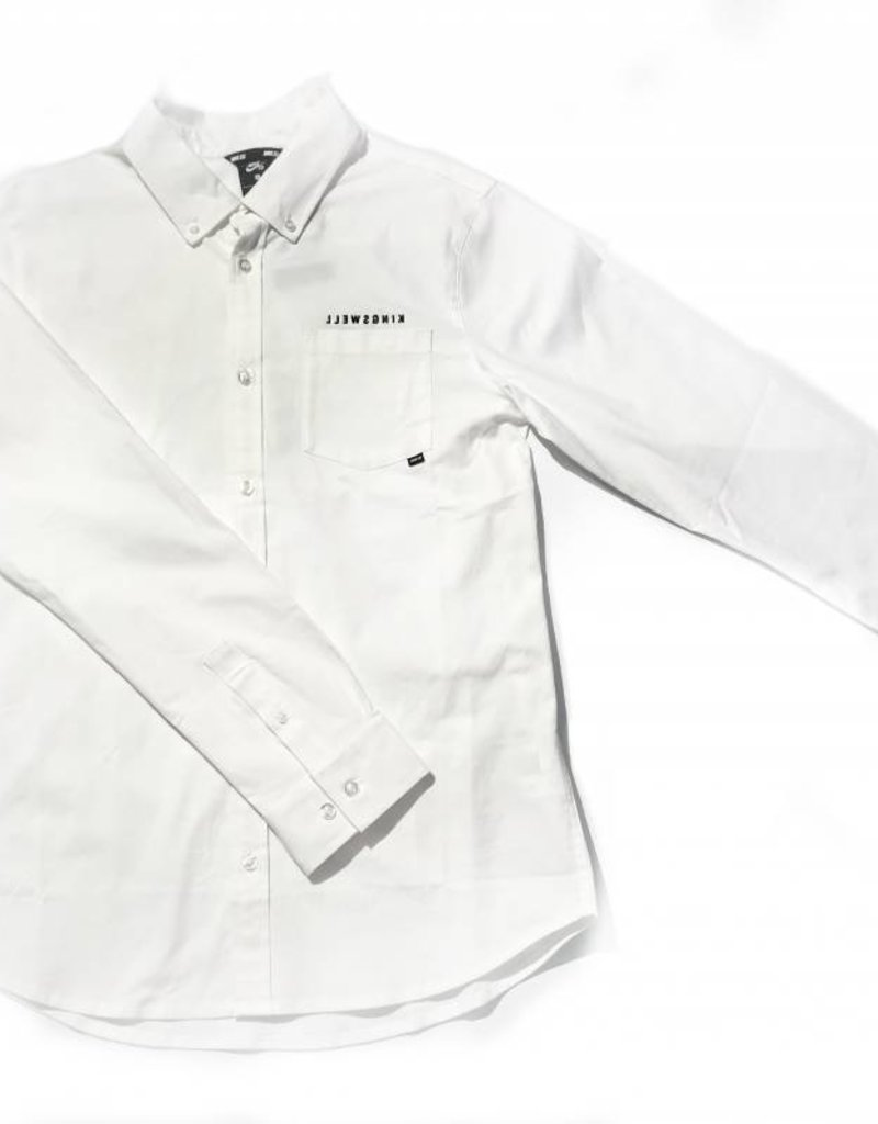 KINGSWELL X NIKE L/S BUTTON - WHITE