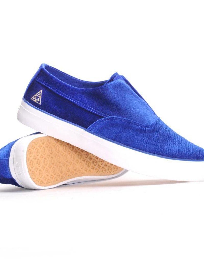 HUF FOOTWEAR HUF DYLAN SLIP ON BLUE VELVET