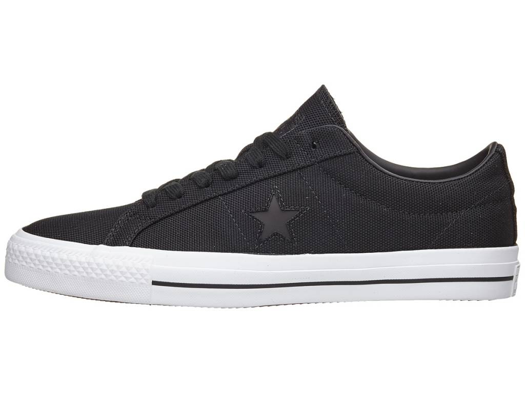 CONVERSE ONE STAR PRO - BLACK/BLACK/WHITE