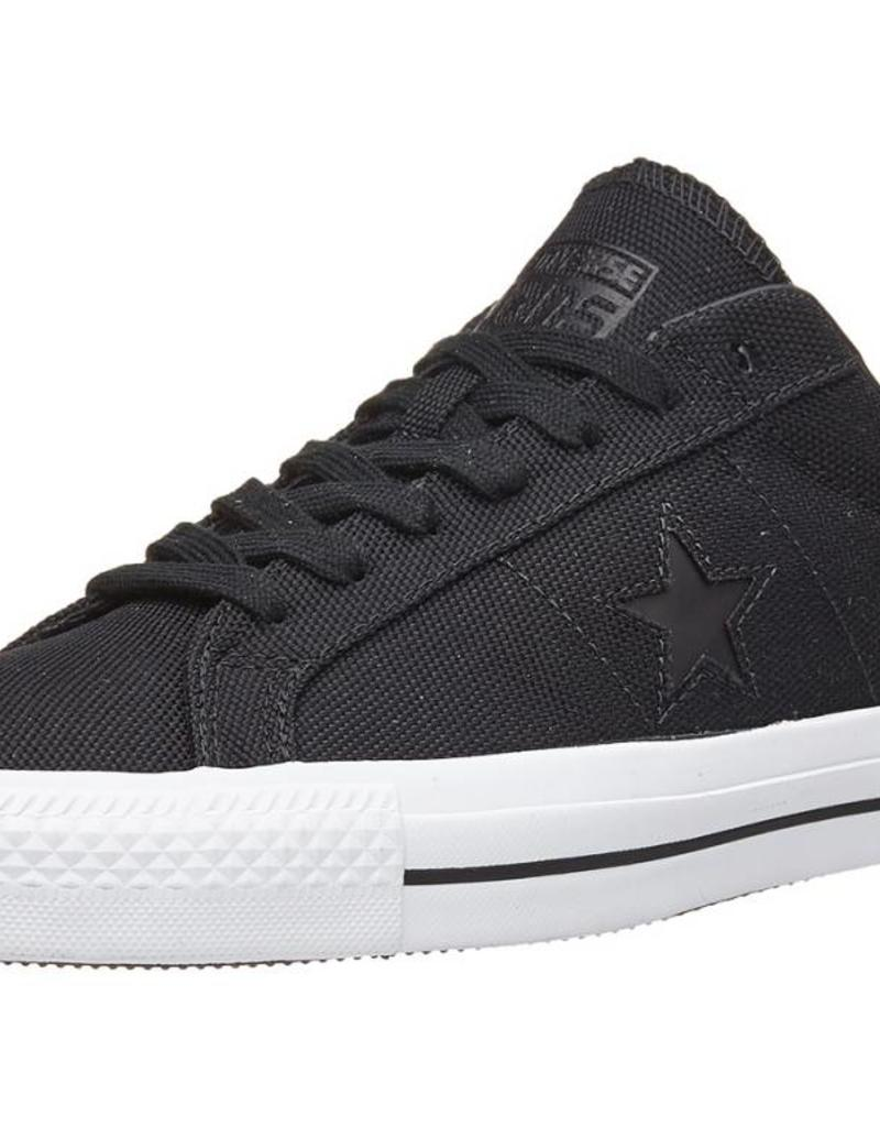 CONVERSE CONVERSE ONE STAR PRO - BLACK/BLACK/WHITE