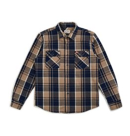 BRIXTON BRIXTON BOWERY COORS L/S FLANNEL - NAVY PLAID