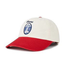 BRIXTON FILTERED CAP - OFF WHITE/RED