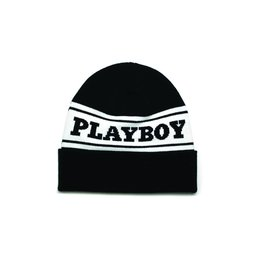 GOOD WORTH X PLAYBOY LOGO BEANIE - BLK/WHT