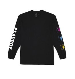 GOOD WORTH GOOD WORTH X PLAYBOY BUNNY L/S TEE - BLACK