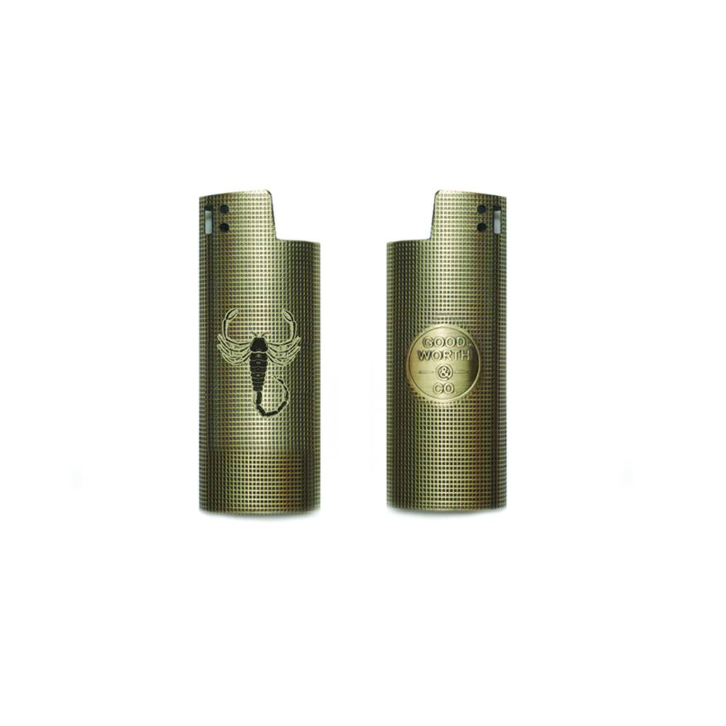 GOOD WORTH GOOD WORTH SCORPION LIGHTER CASE - BRASS
