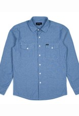 BRIXTON BRIXTON DAVIS L/S BUTTON - LIGHT BLUE CHAMB