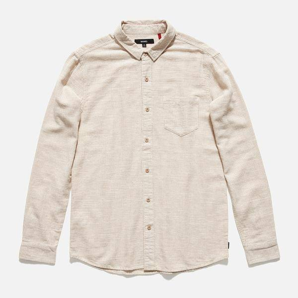 BANKS JOURNAL BANKS EDWARD L/S BUTTON - DESERT MIST
