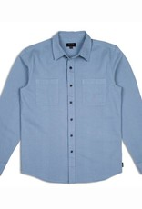 BRIXTON BRIXTON FOREMAN L/S BUTTON - LIGHT BLUE