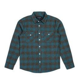 BRIXTON BRIXTON BOWERY L/S FLANNEL - OCEAN
