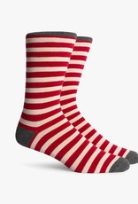 RICHER POORER THEO CREW SOCK - RED/CHARCOAL