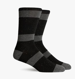 RICHER POORER LONDON CREW SOCK - CHARCOAL/BLACK