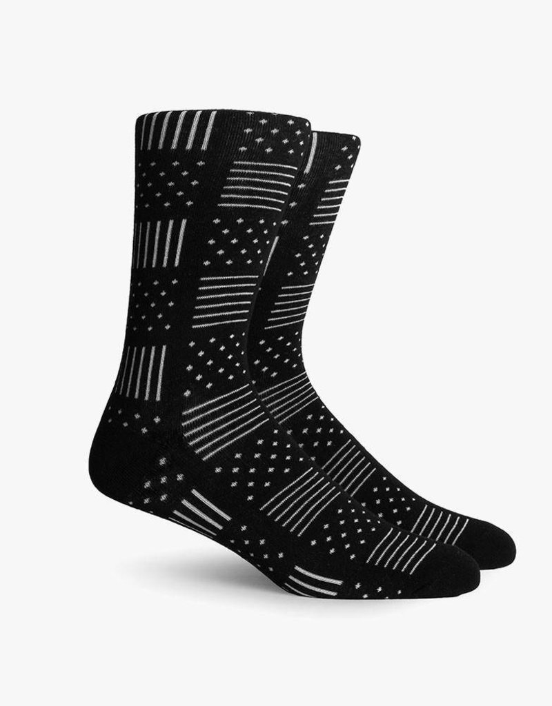 RICHER POORER DINO CREW SOCK - BLACK
