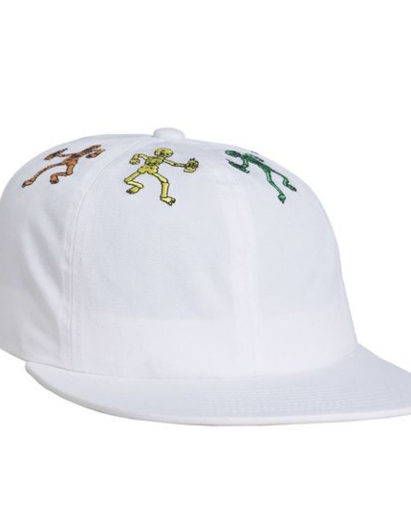 HUF OWSLEY 6 PANEL HAT - WHITE