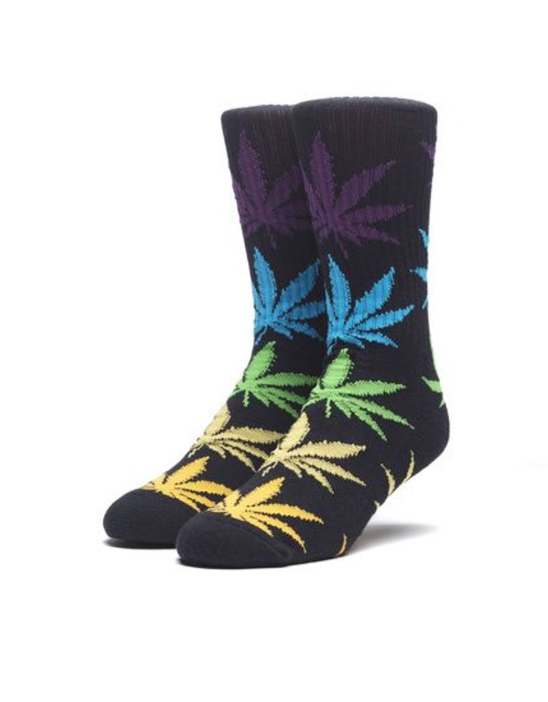 HUF MELANGE PLANTLIFE SOCK - BLACK MULTI