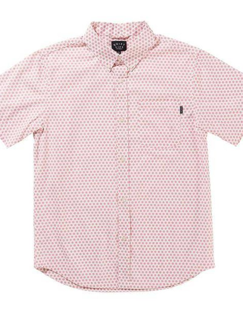 QUIET LIFE QUIET LIFE LICHTENSTEIN S/S BUTTON - WHITE/PINK