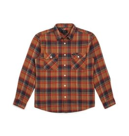 BRIXTON BRIXTON BOWERY L/S FLANNEL - NAVY/COPPER