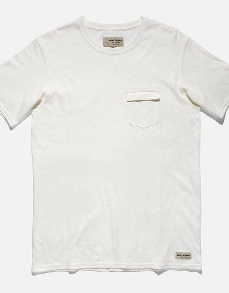 BANKS JOURNAL BANKS JARED MELL SOLID S/S TEE - OFF WHITE
