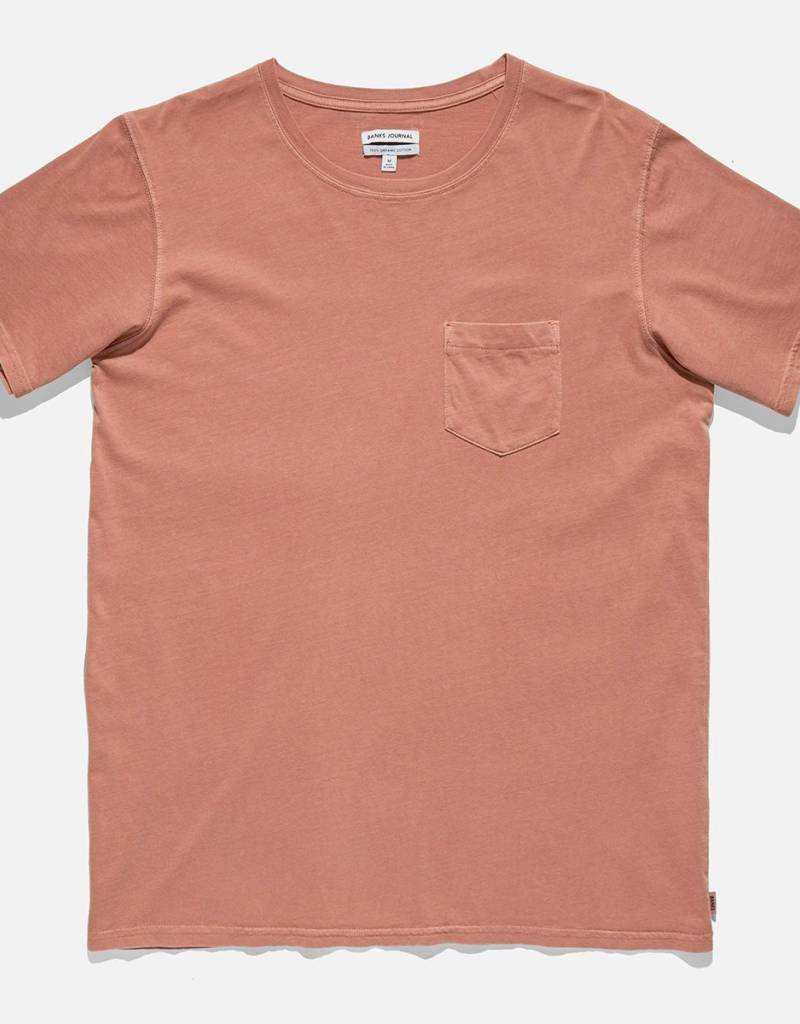 BANKS JOURNAL BANKS STAPLE FADED TEE - FADED PEACH