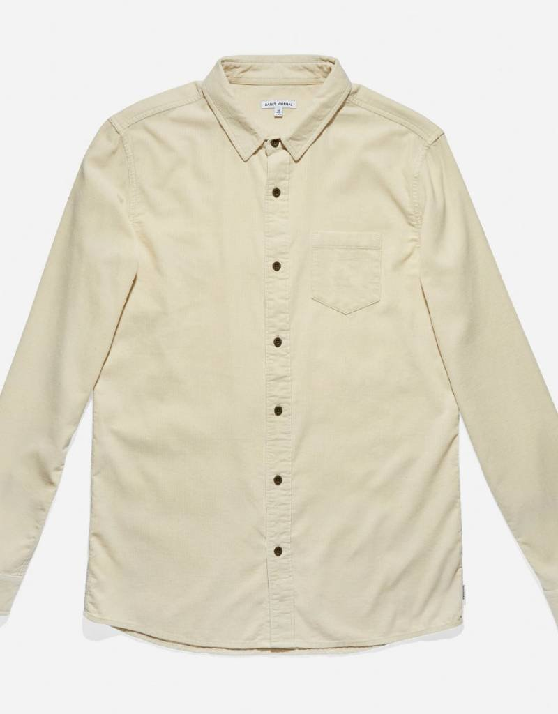 BANKS JOURNAL BANKS ROY L/S BUTTON - DUNE