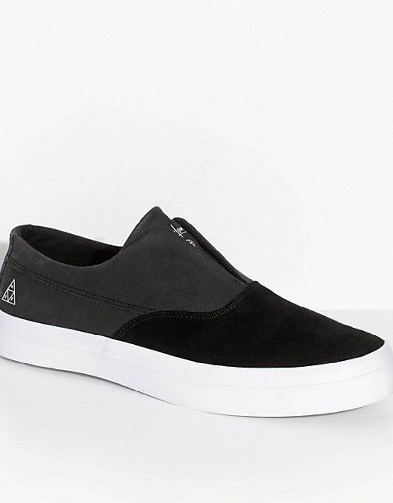 HUF FOOTWEAR DYLAN SLIP ON - BLACK/BLACK/WHITE ...
