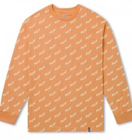 HUF BOLT L/S TEE - PEACH