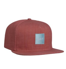 HUF DENIM BOX LOGO HAT - RED