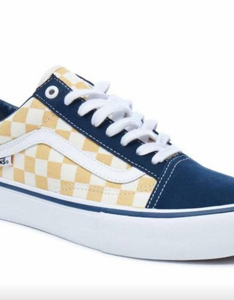 VANS VANS OLD SKOOL PRO - CHECKER DRESS BLUE
