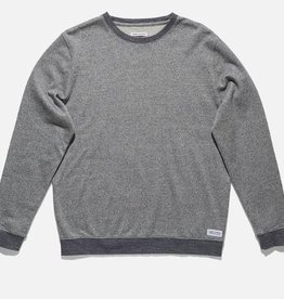BANKS JOURNAL BANKS ORBIT CREW FLEECE - DIRTY DENIM
