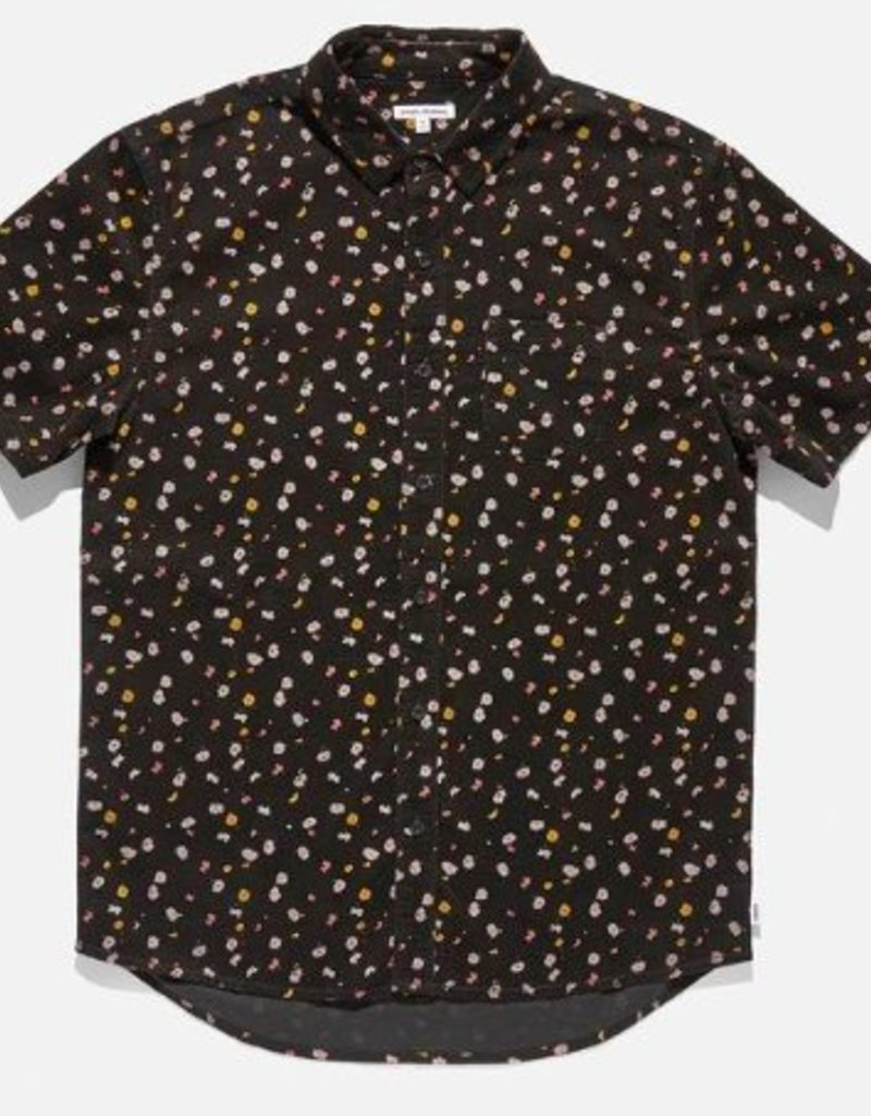 BANKS JOURNAL BANKS FIELDS S/S BUTTON - DIRTY BLACK