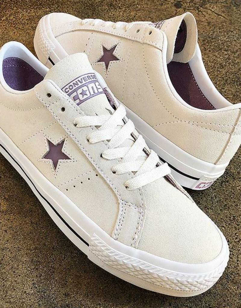 CONVERSE CONVERSE ONE STAR PRO OX - EGRET/VIOLET DUST
