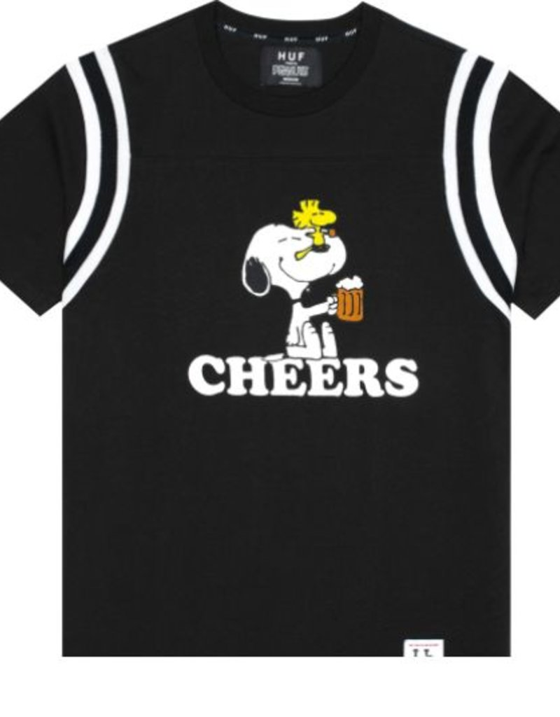 HUF X PEANUTS CHEERS FOOTBALL JERSEY - BLACK
