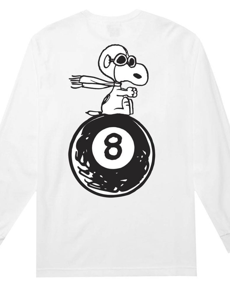 HUF X PEANUTS FLYING ACE L/S TEE - WHITE
