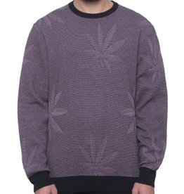 HUF MACRO PLANTLIFE SWEATER - BLACK