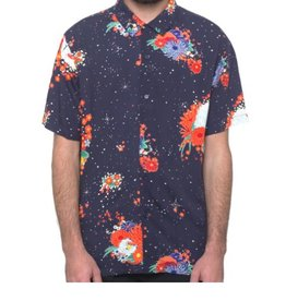 HUF MEMORIAL S/S BUTTON - MOOD INDIGO
