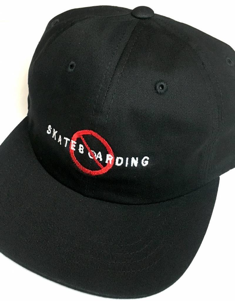 KINGSWELL KINGSWELL NO SKATEBOARDING HAT - BLACK