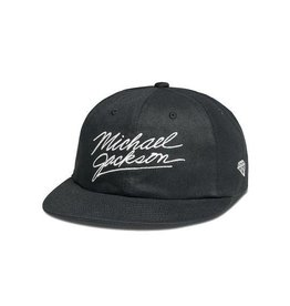 DIAMOND MJ SIGNATURE 6 PANEL STRAPBACK - BLACK