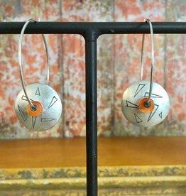 Renata Wulfinghoff Carnelian hoop earrings