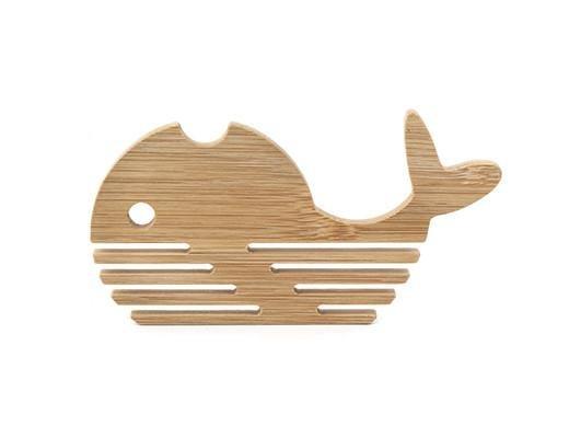 Kikkerland Kikkerland Bamboo whale coasters (set of 4)