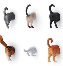 Kikkerland Derrière de chats magnétique (ensemble de 6)