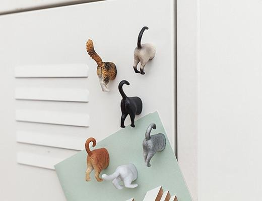 Kikkerland Kikkerland Butt magnetics cat (set of 6)